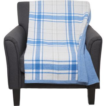 Peacock Alley Made in Portugal Plaid Flannel Throw Blanket - 50x60
