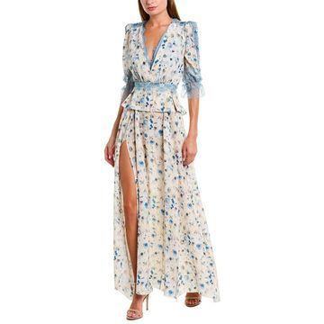 Elisabetta Franchi Womens Silk Maxi Dress