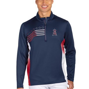 Men's Antigua Navy Los Angeles Angels Liberty Quarter-Zip Pullover Jacket