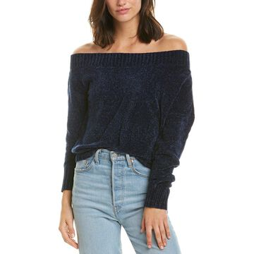 Three Dots Womens Off-The-Shoulder Sweater
