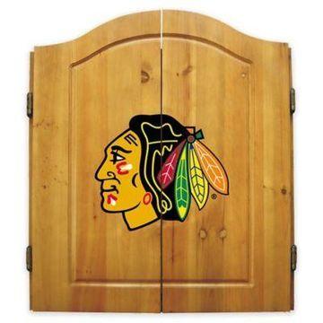 NHL Chicago Blackhawks Dart Cabinet Set