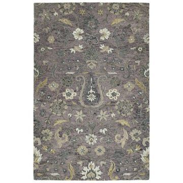 Kaleen Chancellor 4 x 6 Lilac Indoor Floral/Botanical Mid-Century Modern Handcrafted Area Rug Cotton in Purple   CHA06-90-46