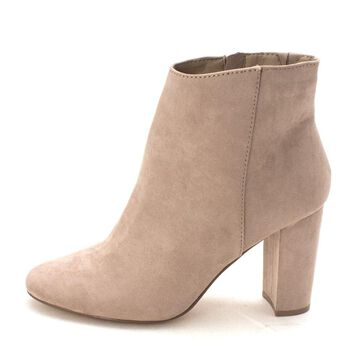 Material Girl Womens Cambrie Suede Closed Toe Ankle Fashion