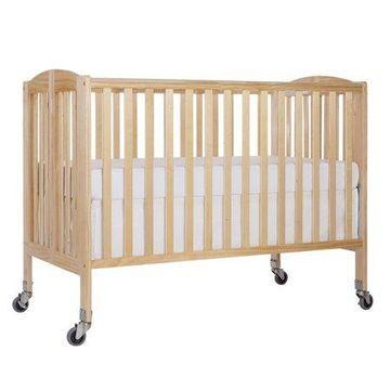 Dream On Me Folding Portable Convenience Full-Size Crib, Natural