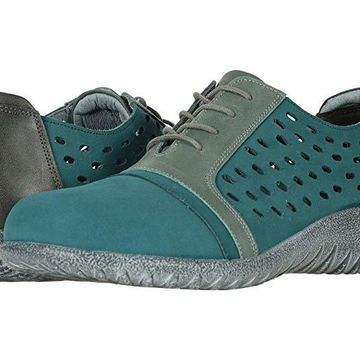 Naot Lalo (Teal Nubuck/Sea Green Leather Combo) Women's Shoes