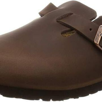 Birkenstock Men's Boston Unisex Adults Leather Clogs Imported,8 US- Brown Habana