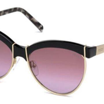 Emilio Pucci EP0057 01T Womenas Sunglasses Black Size 57