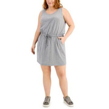 Ideology Plus Size Drawstring Dress, Created for Macy's
