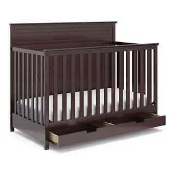 Storkcraft Homestead 4-in-1 Convertible Crib with Drawer (Espresso)