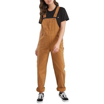 Women's Dickies Relaxed Fit Straight-Leg Overalls, Size: XS, Dark Beige