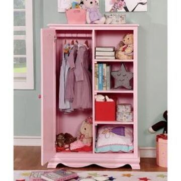 Furniture of America Jevi Transitional Solid Wood Youth Closet