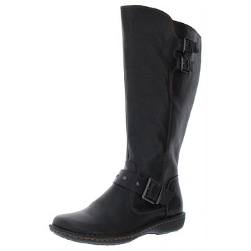B.O.C. Womens Oliver Leather Wide Calf Riding Boots