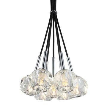 Woodbridge Lighting 16826CHR Faceted K9 7-light Tight Mini-pendant Cluster