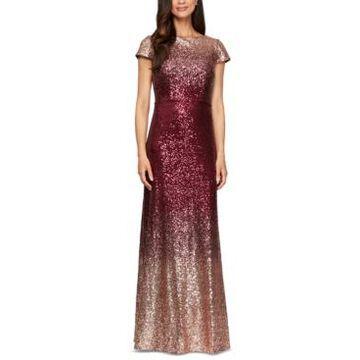 Alex Evenings Ombre Sequin Gown