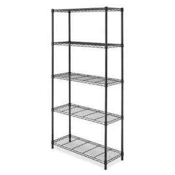 Whitmor Black Ventilated 5-shelf Storage Rack