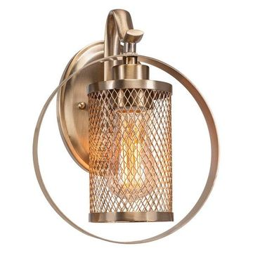 Infinity 1 Sconce New Age Brass Fnsh W/Amber Antique Led Bulb (1612-NAB-LED18A)