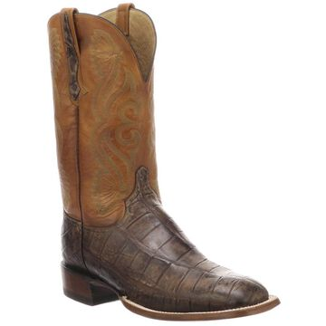 Lucchese Roy Alligator Leather Boots