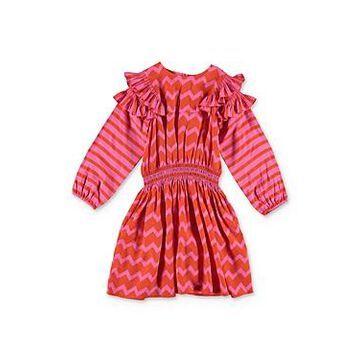 Stella McCartney Girls' Zigzag Print Dress - Little Kid, Big Kid