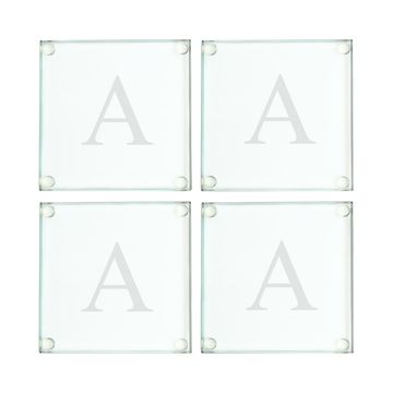 Personalized Glass Coasters, Set of 4