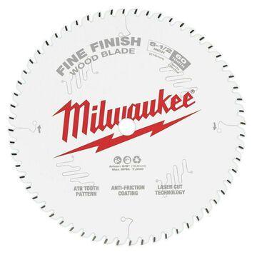 Milwaukee 8-1/2 in. 60T Fine Finish Circular Saw Blade 48-40-0826 New