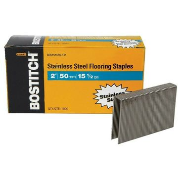 BOSTITCH BCS1516SS-1M 15-1/2 Gauge Stainless Steel Flooring Staple (Pack of 1000