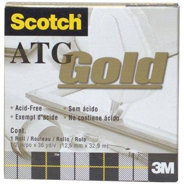 3M #908 Acid-Free Adhesive Transfer Tape, 1/2