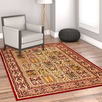 Well Woven Timeless Cordelia Garden Traditional Red Area Rug