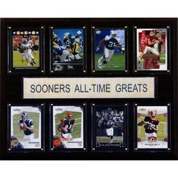 C&I Collectables NCAA Football 12x15 Oklahoma Sooners All-Time Greats Plaque