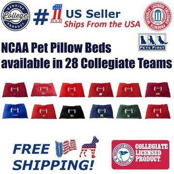 Pets First NCAA Arizona Wildcats Soft & Cozy Plush Pillow Pet Bed Mattress for DOGS & CATS. Premium Quality