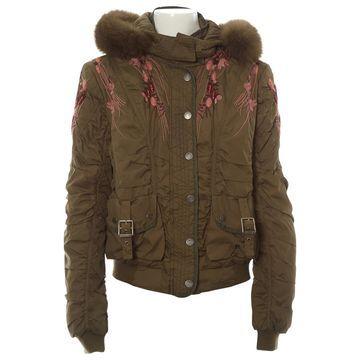 John Galliano Khaki Synthetic Jackets