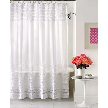 Creative Bath Accessories, Sheer Ruffles Shower Curtain Bedding