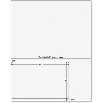 Sparco Laser, Inkjet Print Integrated Label Form, White, 250 / Pack (Quantity)