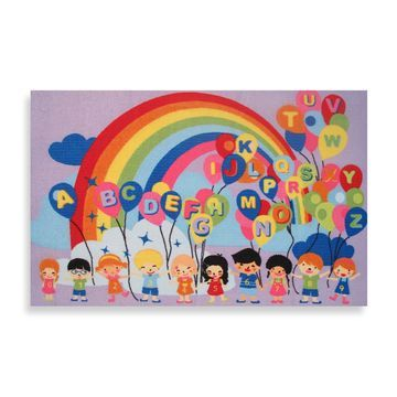 Fun Rugs& Multicolor Educational Balloons Rug
