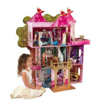 KidKraft Wooden Storybook Mansion Dollhouse with 14 Accessories Included