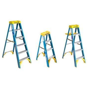 6' 6000 Series Step Ladders Fiberglass