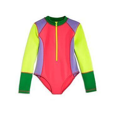 Stella McCartney Girls' Color-Block One-Piece Rash Guard - Little Kid