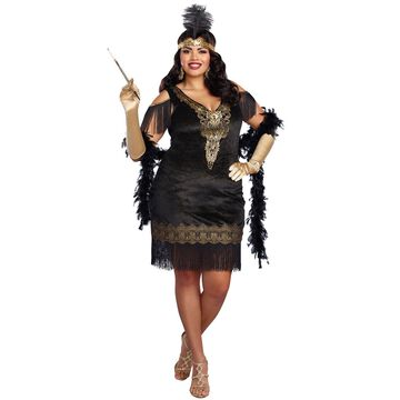 Dreamgirl Swanky Flapper Plus Size Costume-2XL