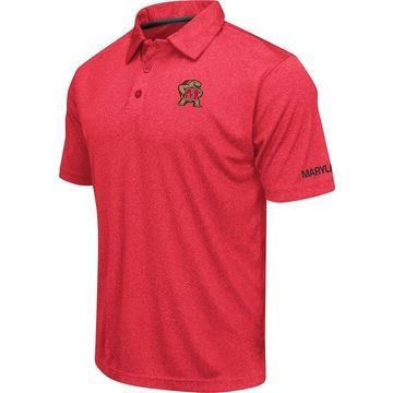 Colosseum Men's Maryland Terrapins Red Axis Polo