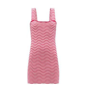 Solid & Striped - The Ryan Striped Jersey Mini Sundress - Womens - Red White