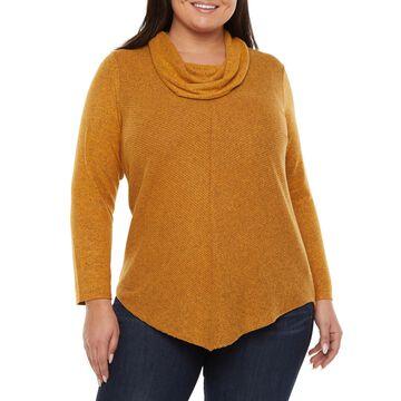 Alyx Womens Cowl Neck Sweater - Plus