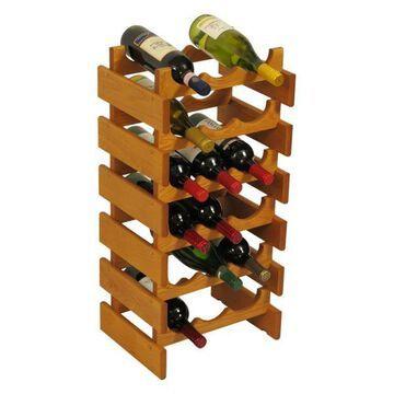 Wooden Mallet 18 Bottle Dakota Wine Rack Medium Oak