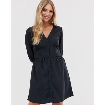 Vila button thru mini dress