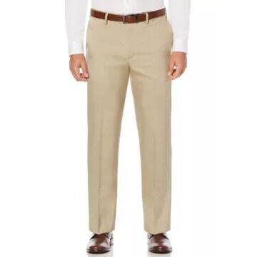 Savane Big & Tall Crosshatch Stretch Men's Extender Waist Flat Front Dress Pants -