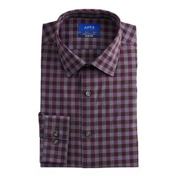 Men's Apt. 9 Premier Flex Extra-Slim Fit Spread-Collar Dress Shirt, Size: XS 32/33, Dark Red