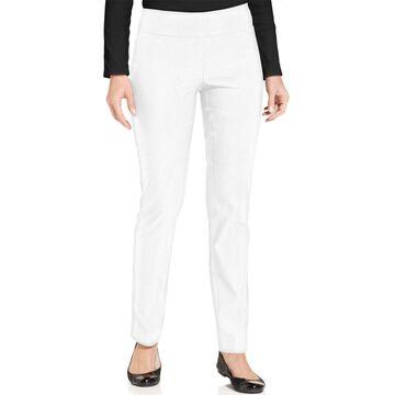 Charter Club Petite Cambridge Tummy-Control Slim-Leg Pants, Petite & Petite Short, Created for Macy's