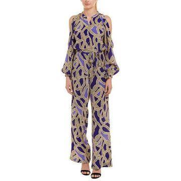 Karen Millen Womens Silk Jumpsuit
