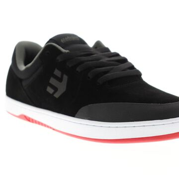 Etnies Marana Mens Black Suede Athletic Lace Up Skate Shoes