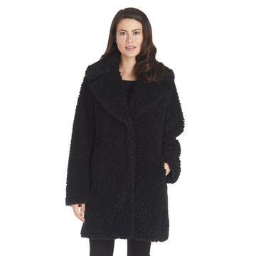 Kensie Women's Teddy-Fleece Coat