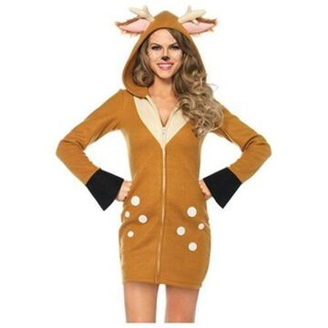 Cozy Fawn Costume 85587 Leg Avenue Brown Small