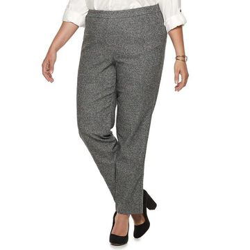Plus Size Briggs Millennium Tweed Mid-Rise Pants